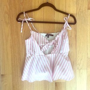 Pink Striped Top from Bloomingdales